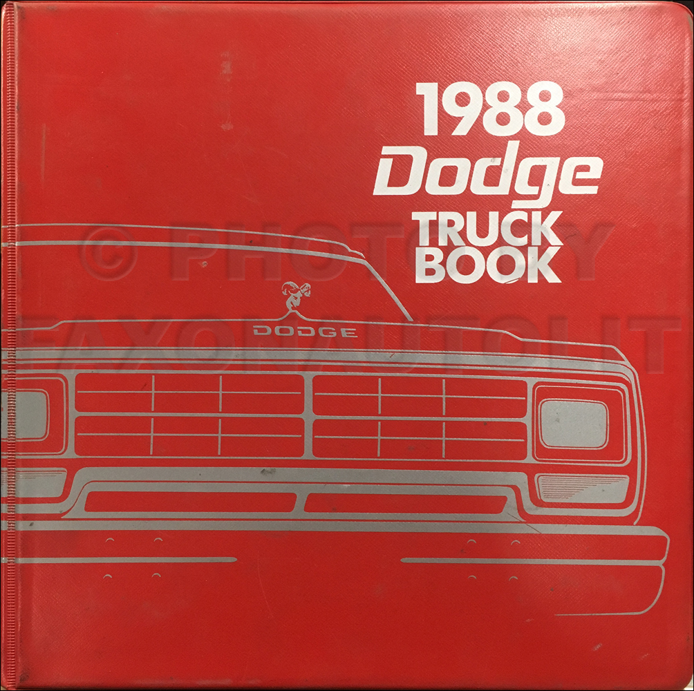 1988 dodge ramcharger owners manual