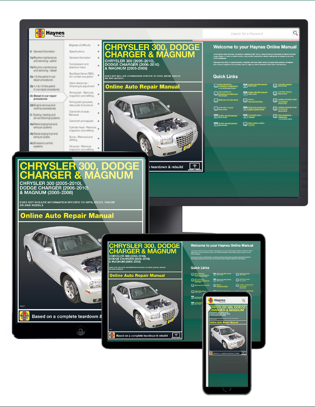 2012 dodge charger service manual