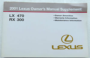 2000 lexus lx470 owners manual