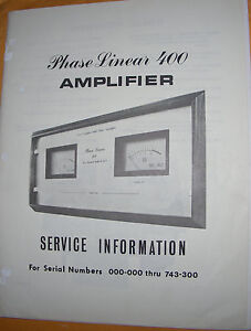 phase linear 400 service manual
