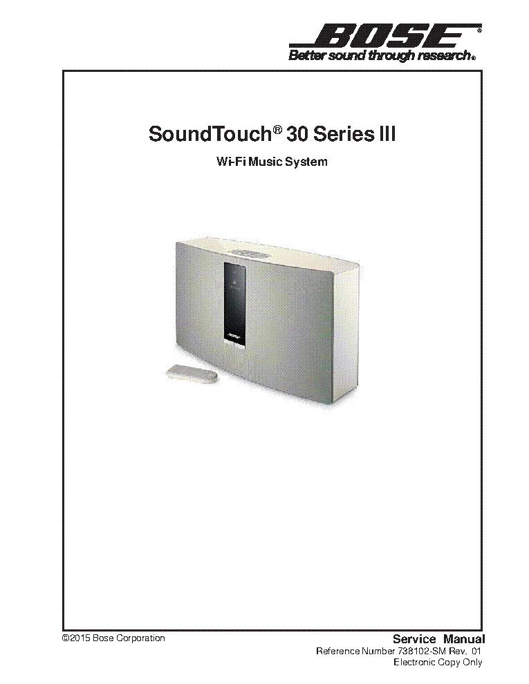 bose soundtouch 30 user manual
