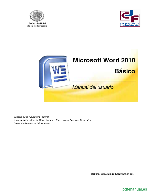 microsoft word user manual pdf