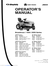 simplicity lawn tractor owners manual